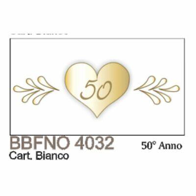 20Pz Notas Tarjeta Detalle Bodas de Oro D Oro 50 Años Matrimonio