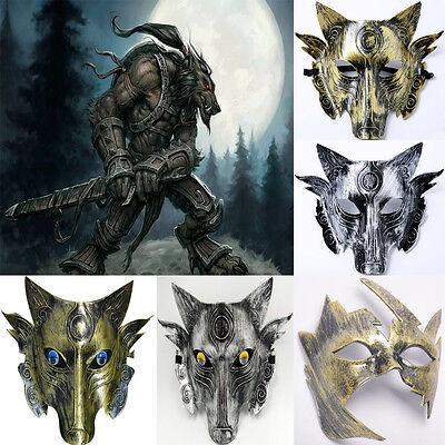 Fashion Samurai Full Face Wolf Head Cosplay Mask Halloween Party Masque Costume - Wolf Head Costume Halloween