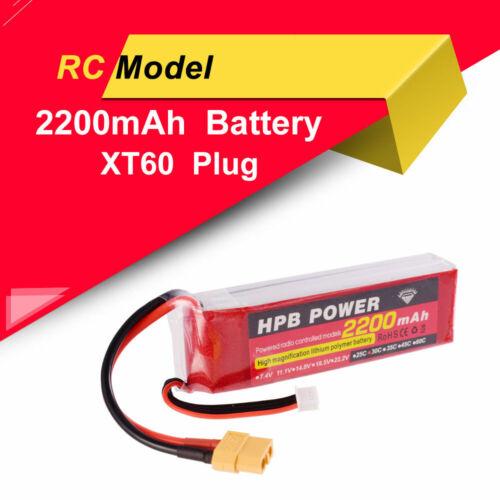 ZOP Power Lipo Battery XT60 Plug 11.1V 2200mAh 30C 3S For RC