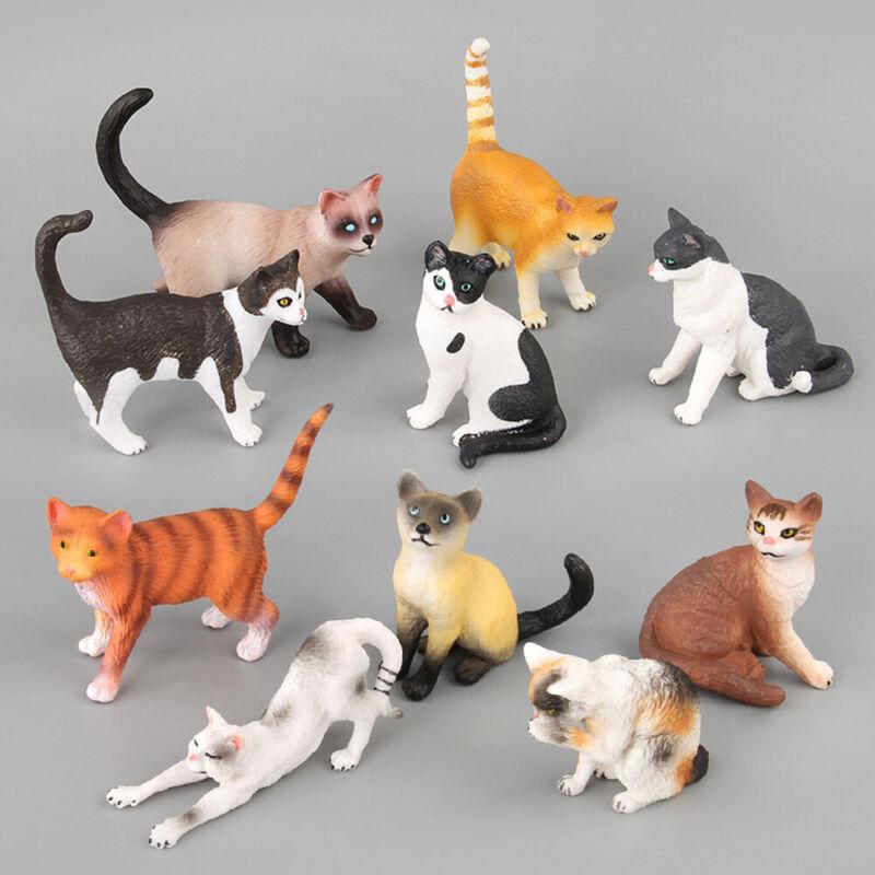 katze simulation tier model neko figur miniatur puppenhaus dekor mini