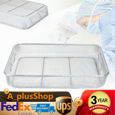 Stainless Steel Sterilization Tray Box Basket Surgical Instrument Mesh Frame