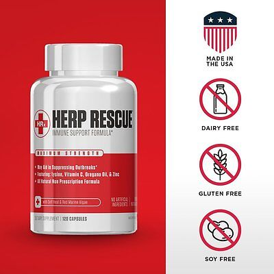 Herp Rescue Anti Virus Immune Support For Cold Sores  Herpes  Shingles 120 Caps