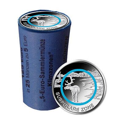 Sammlermünze Subpolare Zone 2020 verschiedene Buchstaben 25er Rolle in St