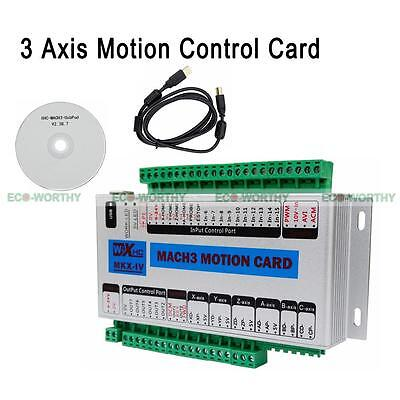 3 Axis Cnc Usb Motion Control Card Module Breakout Board For Mach3 Milling Lathe