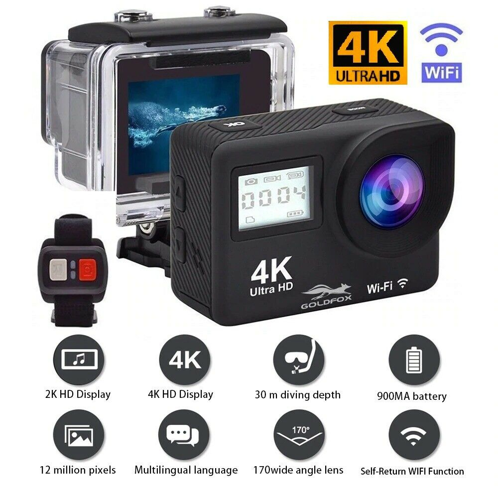 Ultra 4K Full HD 1080P Waterproof Sport Camera Wi-Fi Action