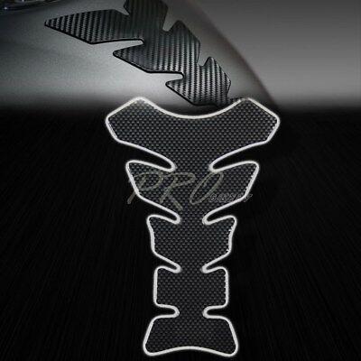 - 3D Gel Carbon Fiber Look Fuel/Gas Tank Pad Protector Decal/Vinyl Bike Sticker