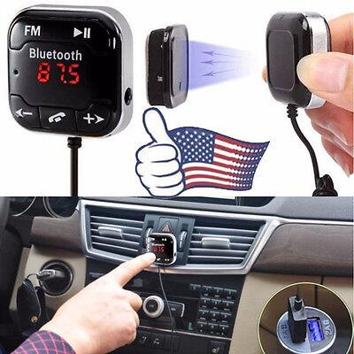 Car Kit Wireless Bluetooth FM Transmitter MP3 Player USB SD LCD Remote 1PC