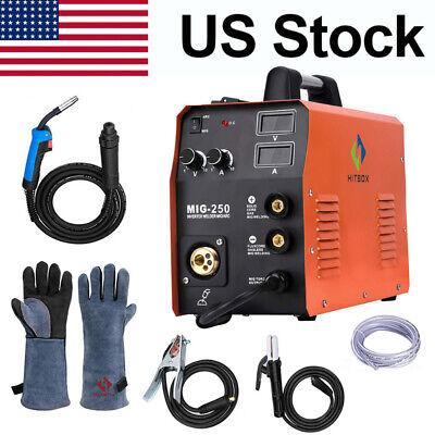4in1 Mig 250a Mig Welder Gas Gasless Lift Tig Arc Mig Welding Machine Igbt 220v