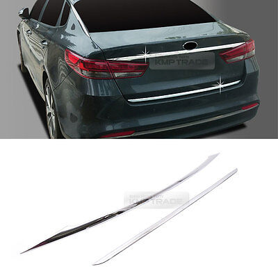 Chrome Rear Trunk Cover Garnish Moldings 2pcs For KIA 2016-2019 Optima K5