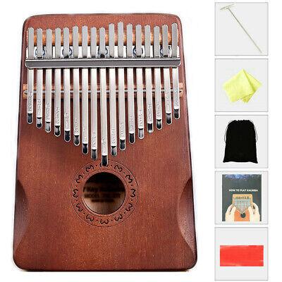 17 Key Kalimba Thumb Piano Toy Wooden Mahogany Finger Musical Instrument Kit US