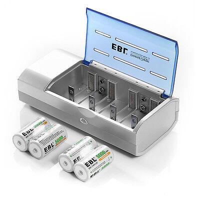 4x 5000mah C Size R14 1.2v Alkaline Rechargeable Batterie...