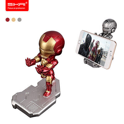 Universal Iron Man Resin Mobile Phone Stand Holder For Iphone X 8 Plus Samsung