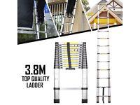 ***3.8 M Aluminium Telescopic Ladder***
