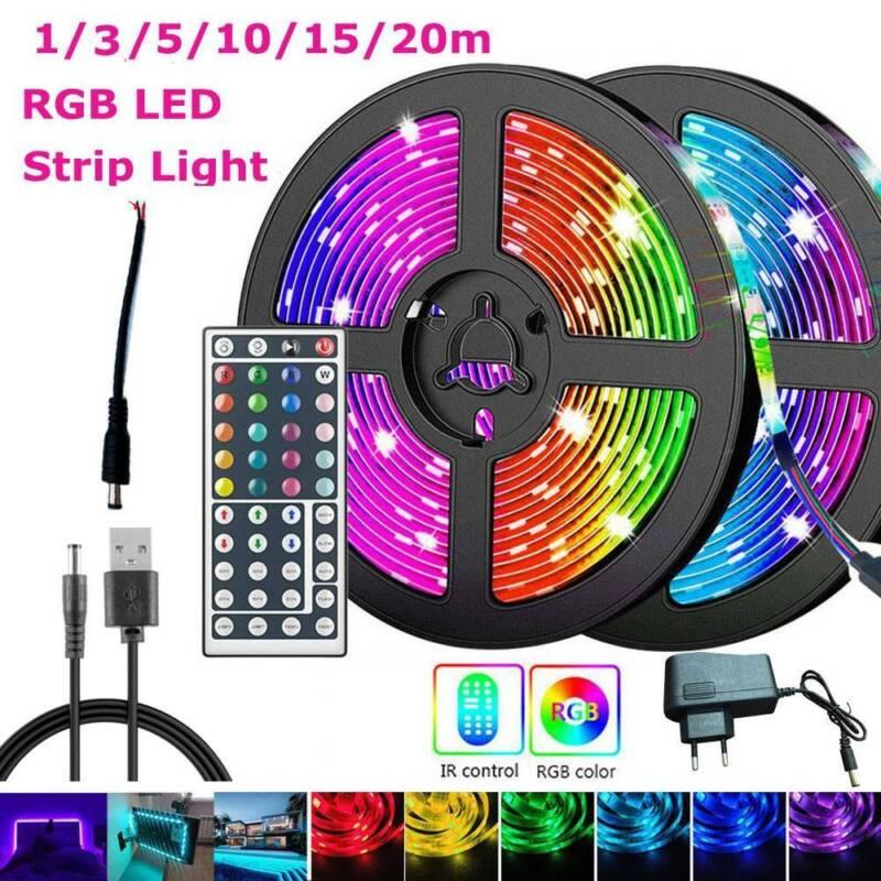 RGB LED Stripe Leiste Streifen 3528SMD Band Licht Leuchte Lichterkette 1-20M