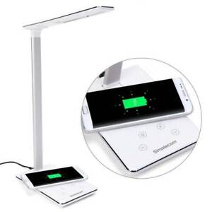 Dimmable LED Desk Lamp with Wireless Mobile Charging Base, USB