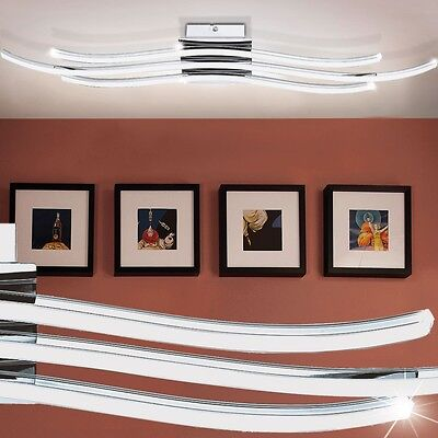 Design Wand Lampe LED Schlaf Ess Zimmer Decken Leuchte 26 Watt Strahler gewellt