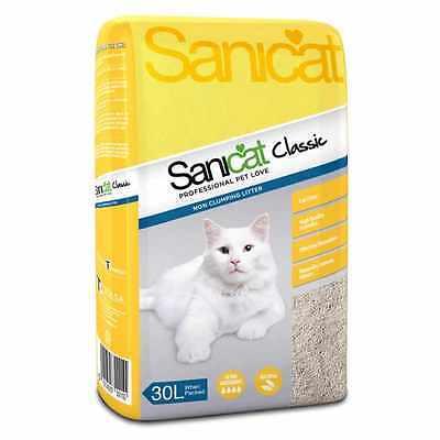 Tolsa Sanicat Cat Litter Classic Original 30 L Non Clumping Absorption Strength