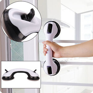 Support Bar Grab Handle Suction Cup Shower Bath Safety Grip Rail Disability Aid