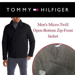 2ba5070ce3341 New Tommy Hilfiger Mens Micro-Twill Open-Bottom Zip-Front Jacket Condition