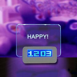 Message Board Digital Alarm Clock LCD Electronic Clock Large Screen A5R4