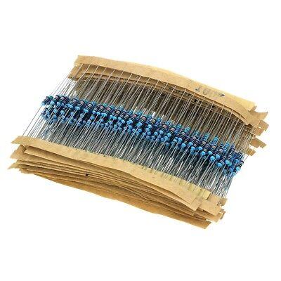 600pcs 30 Values 14w 1 Resistor Kit 10 1m Ohm Metal Film Resistor Assortment