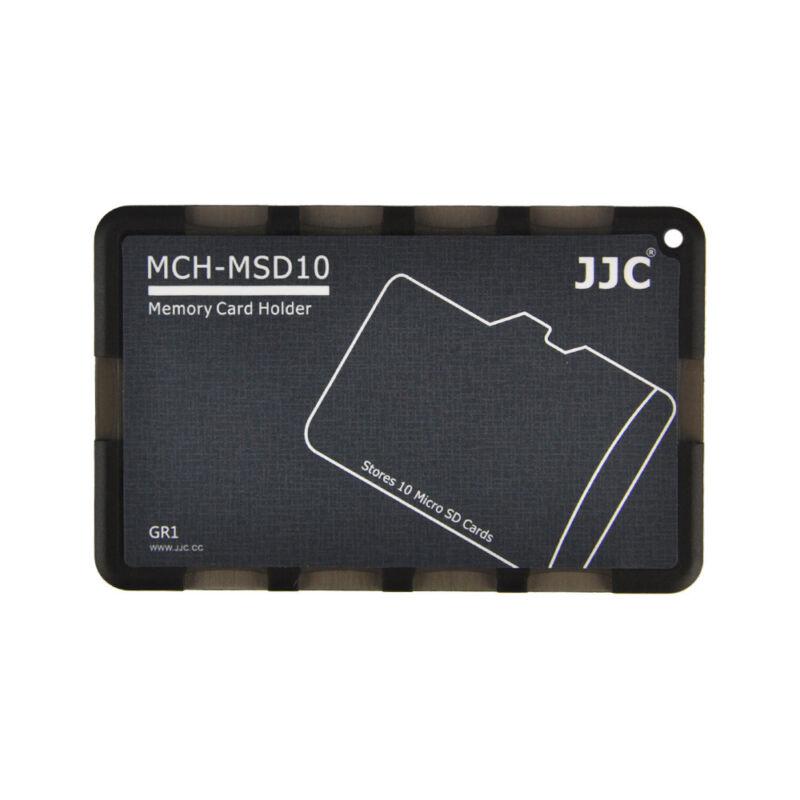 JJC MCH-MSD10GR Black Pocket Memory Card Holder fits 10 Micro SD cards US Seller