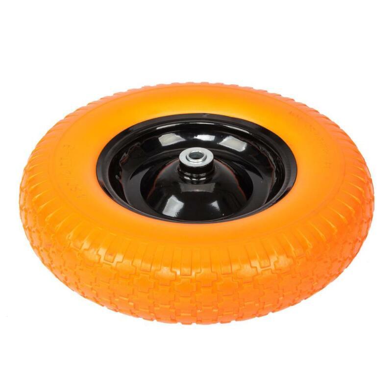 "Brand New 16"" Flat Free Wheel Barrow Wheelbarrow Tire Solid Foam 5/8 Axle Cart"