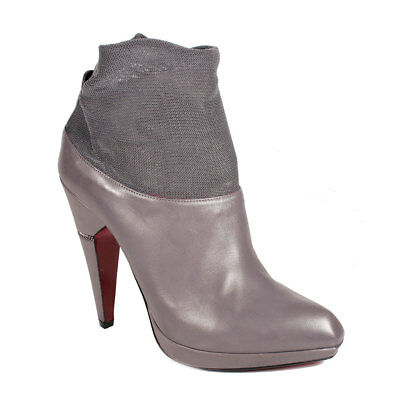 Cesare Paciotti Womens Shoes Gray Leather Short Boots retails for -