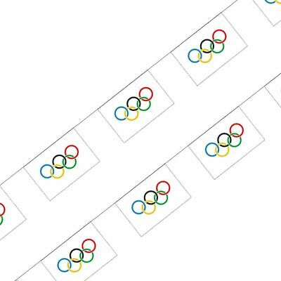 10m Olympic Games Rings Flags Bunting Banner Sports Supporters Decorations](Olympic Rings Decorations)