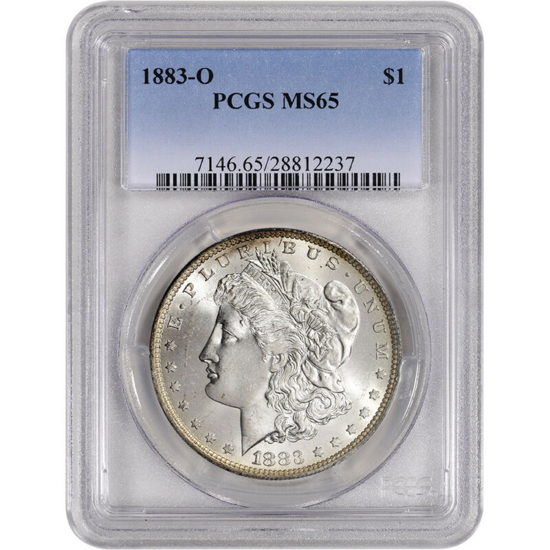 1883-O US Morgan Silver Dollar $1 - PCGS MS65