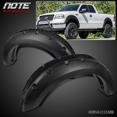 For Ford F150 04 -08 07 Set Bolt On Smooth Black Fender Flares Pocket River Bolt