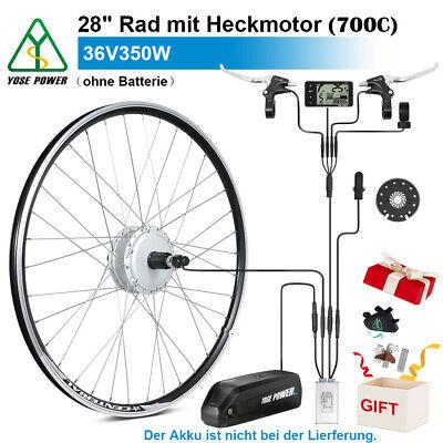 "YOSE POWER E-bike Umbausatz 36V 350W 28"" Heckmotor für Steckkranz Conversion Kit"