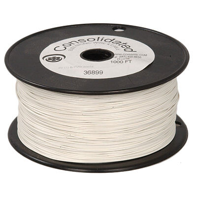 22 Awg Solid White Hook-up Wire 1000 Ft. Reel