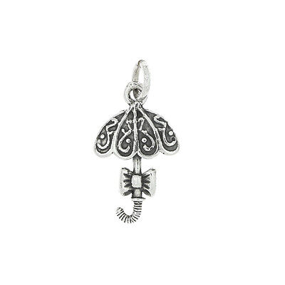 STERLING SILVER DECORATED UMBRELLA CHARM OR PENDANT