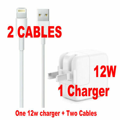 New 12W For Apple Charger & Charging Cable for iPad Mini Air 1 2 Airpod iPhone