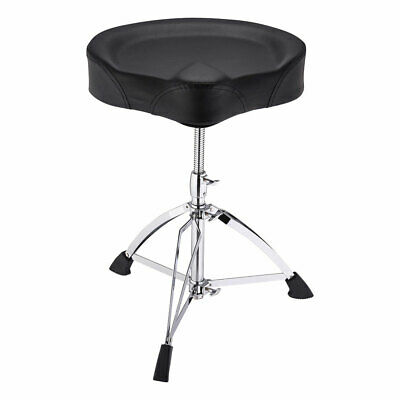 Large Saddle Drum Throne Drummer Stool Round Seat Chair Adjustable Folding Stand Drum Throne Seat Stool