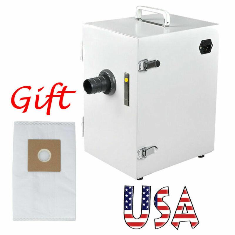 US Dental Digital Single-Row Dust Collector Vacuum Cleaner System Bag US+ Gift!