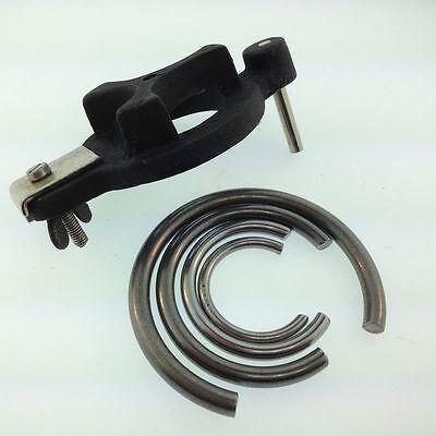 4 New Clock mainspring Clamps & mainspring winder clockmakers tool clamp repair