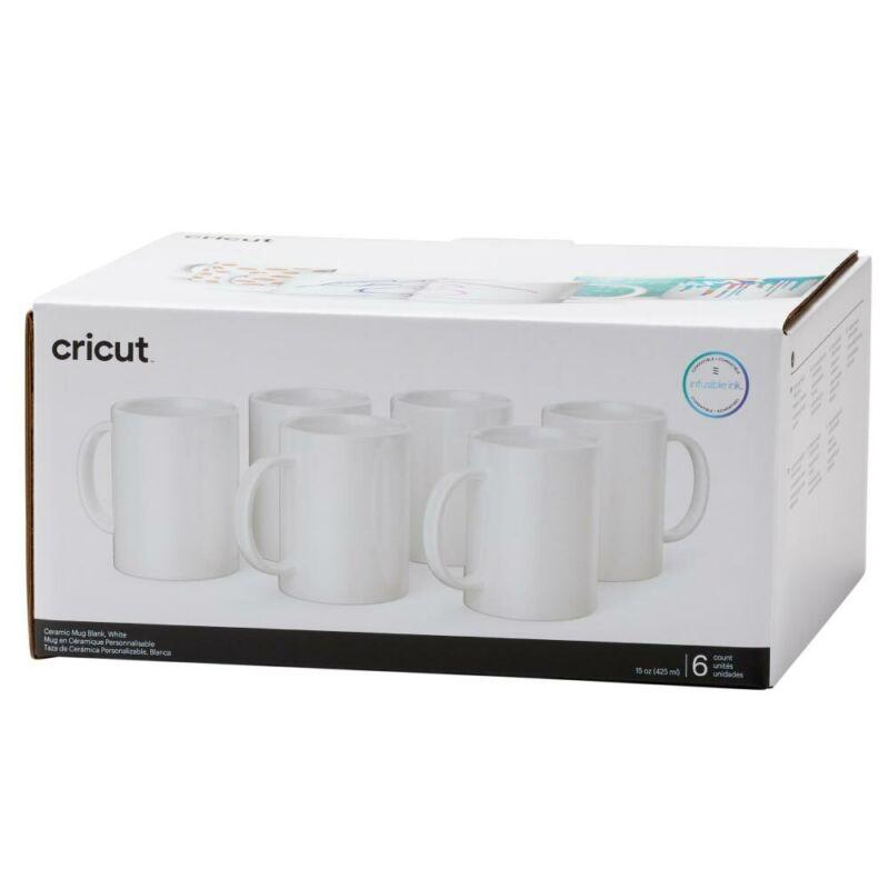 Cricut Ceramic Mug Blank, White - 15 oz/425 ml (6 ct)