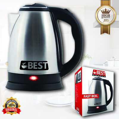 Professional Stainless Electric Kitchen Kettle Pot Hot Water Tea Quick Boil 2L