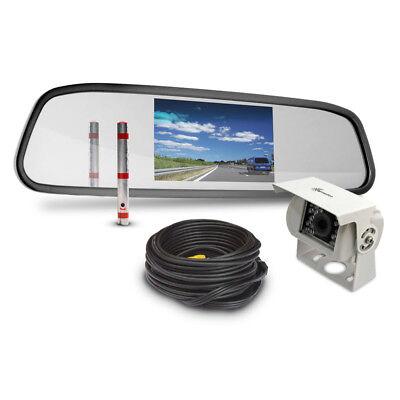 Rückspiegel Rückfahrsystem Carmedien CM-ARSRFS2 Rückfahrvideosystem TFT Monitor