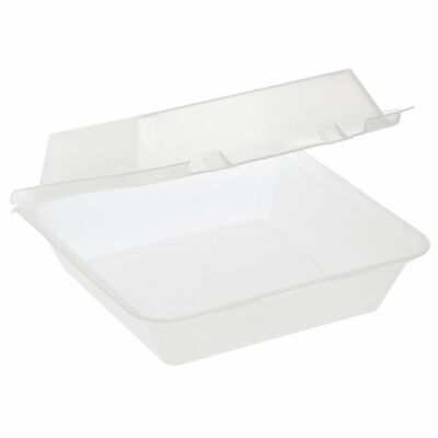 G.e.t. 1 Compartment Clear Polypropylene Eco-takeout Container - 9l X 9w X 3