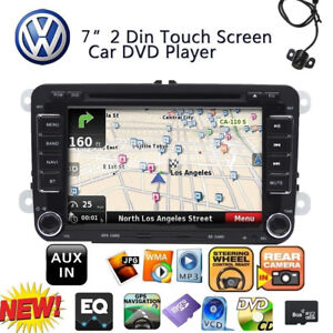 For VW Golf MK5 MK6 Passat Jetta Radio DVD Player GPS Nav Stereo Bluetooth 2DIN