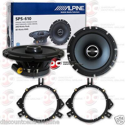 "ALPINE SPS-610 6.5"" 2-WAY CAR AUDIO SPEAKERS (PAIR)"