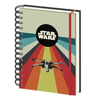 Genuine Star Wars Nostalgia A5 Wiro Hardback Journal Notebook Note Pad Lucasfilm