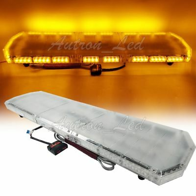 47 Inch Led Strobe Lightbar Warning Emergency Beacon Rooftop Tow Truck Amber 88w
