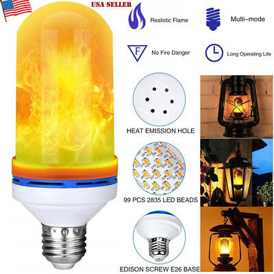 E27 LED Flicker Flame Light Bulb Simulated Burning Fire Effect Xmas Party Lamp](Flicker Bulb)