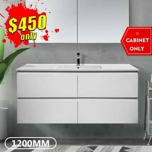 *CLEARANCE* Bathroom Vanity 1200mm Wall Hung Cabinet 2pack Mia