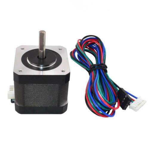 Nema 17 Stepper Motor 64oz.in 1.5A 42x42x39mm 4-wire w/1m Cable & Connector New