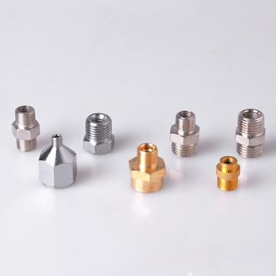 7 Airbrush Compressor Hose Connector Set Fitting 1/4 1/8 Male Female Adaptor Kit